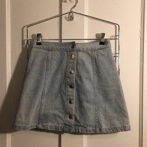 Denim button up skirt. H&M divided brand